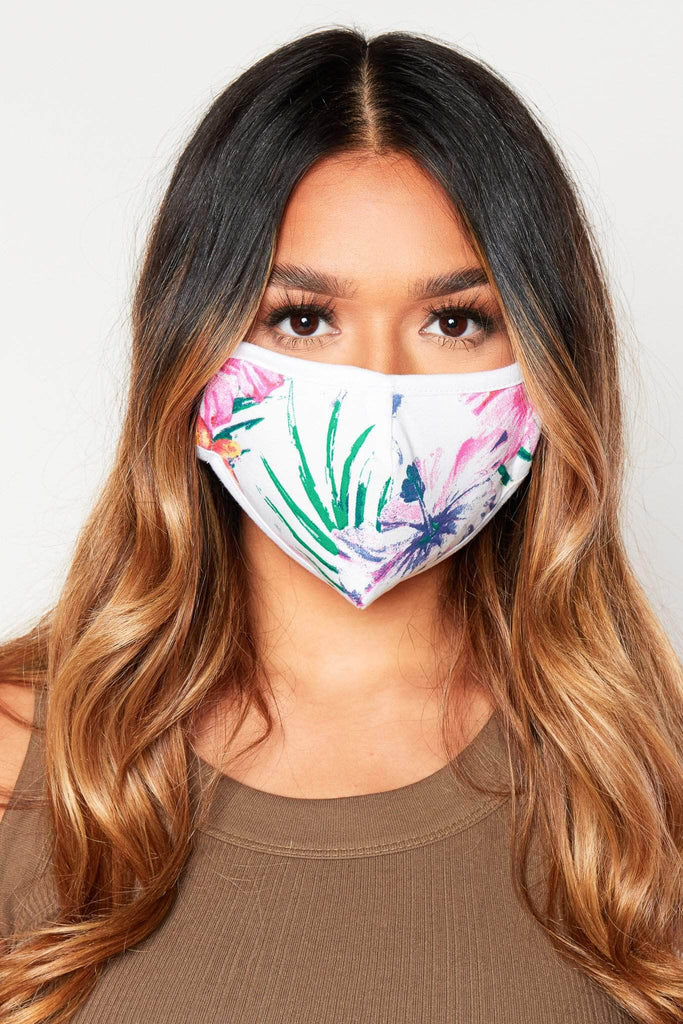 Pink Floral Cotton Reusable Cloth Face Mask