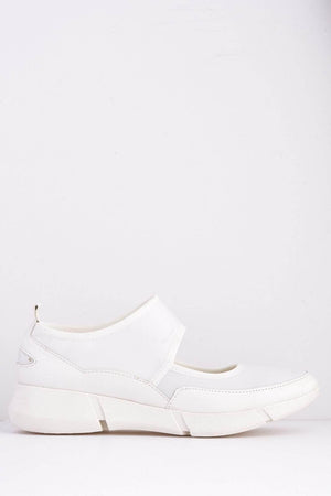 White Scuba Mary Jane Sports Trainers