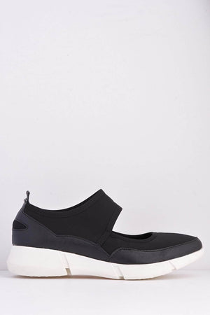 Black Scuba Mary Jane Sports Trainers