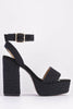 Black PU Ballet Pumps with Elastic Hem-Flats-Hidden Fashion