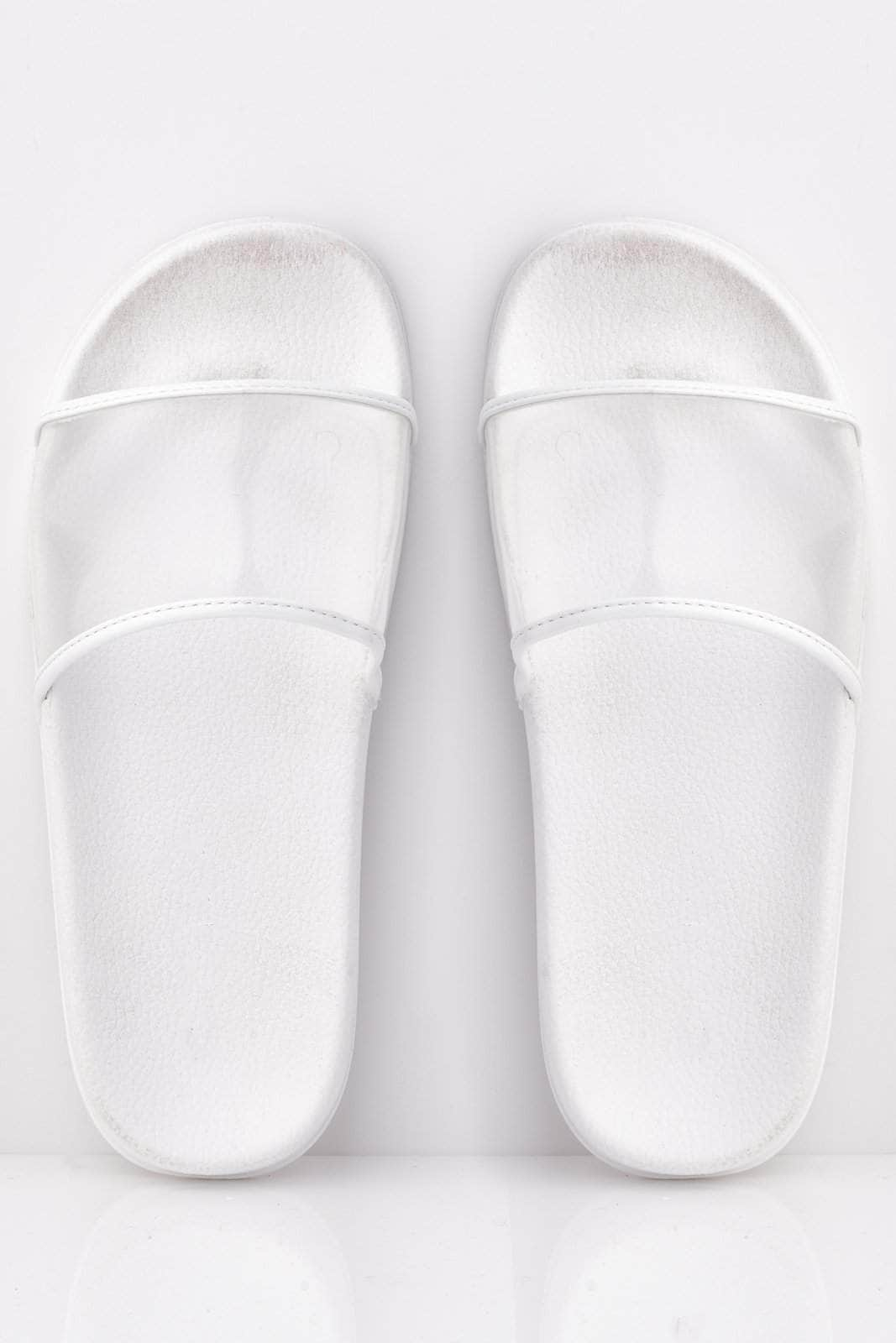 White Sliders with Perspex Strap