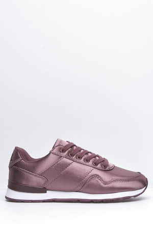 Purple Satin Reflex Trainers