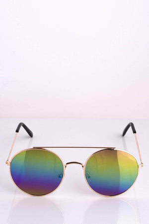 Rainbow Tinted Round Sunglasses