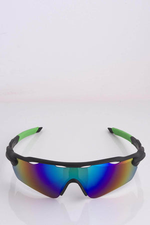 Rainbow Tinted Visor Sunglasses