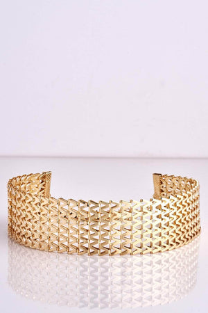 Gold Textured Thick Choker