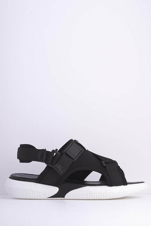 Black M Scuba Cross Over Velcro Sports Sandals