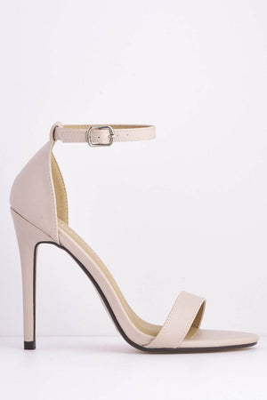 Nude Pu Basic Stiletto Heels