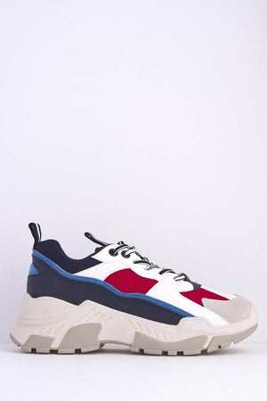 Red & Blue Chunky 90's Trainers