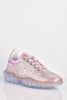 Pink Metallic Diamante Clear Sole Trainers