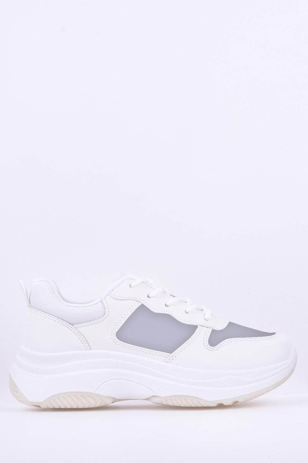 Chunky White Clear Perspex Trainers