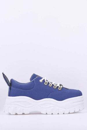 Chunky Denim Platform Trainers