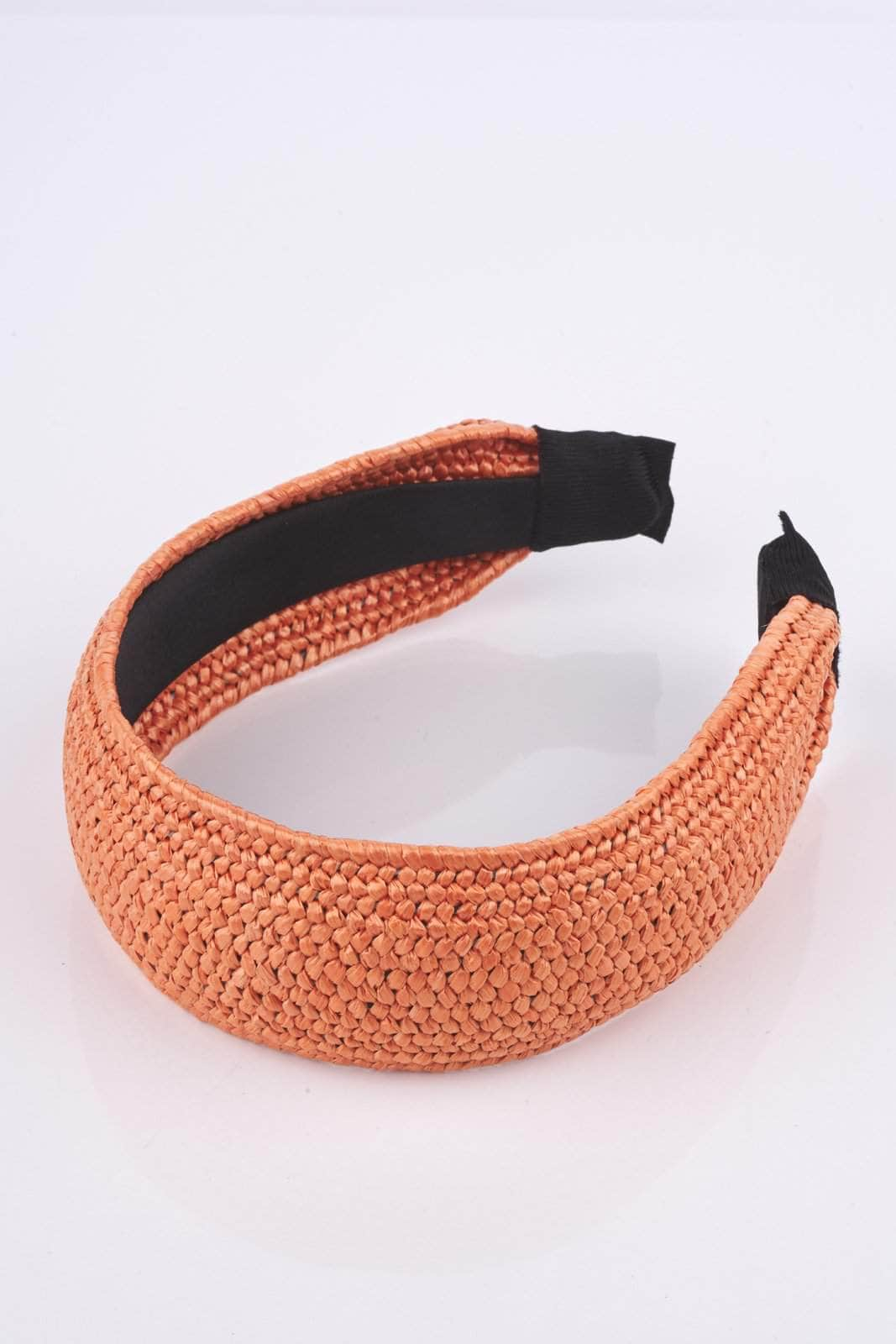 Orange Straw Headband