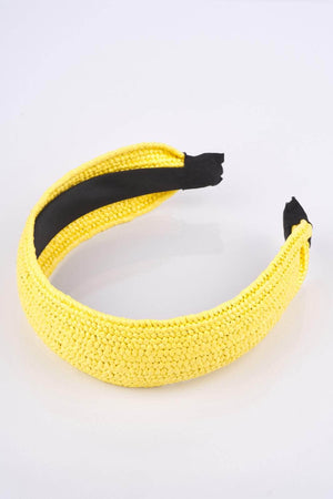 Yellow Straw Headband