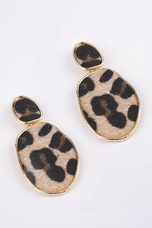 Leopard Droplet Earrings