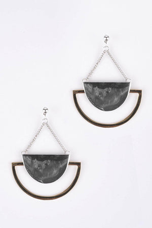Geometric Semi Circle Earrings