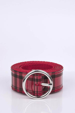 Red Checked Perspex Belt