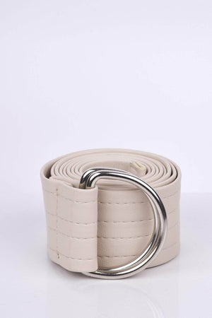 Nude Pu D Ring Belt