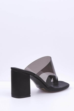 Black Pointed Strappy Stilettos-Heels-Hidden Fashion
