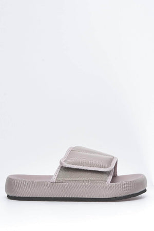 Grey Velcro Chunky Sliders