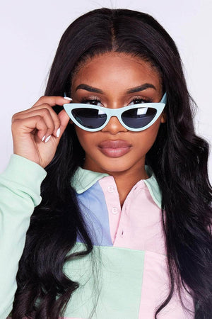 Light Blue Cat Eye Sunglasses