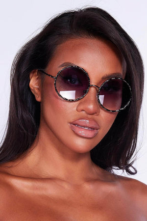 Round Purple Tint Sunglasses