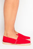 Red Canvas Flat Espadrilles