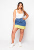 Plus+ Contrast Denim Mini Skirt