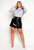 Black Patent Mini Skirt