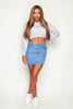 Mid Wash Denim Mini Skirt