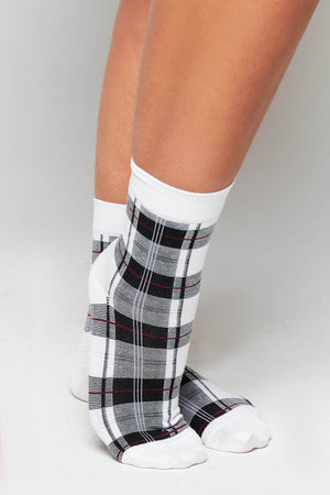 Black & White Checked Socks