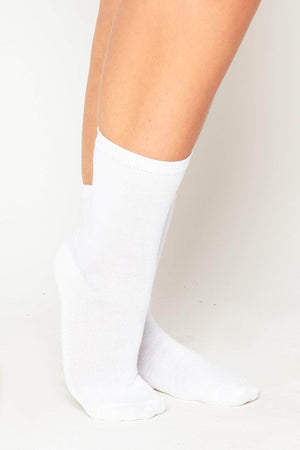 3 Pack White Cotton Plain Socks