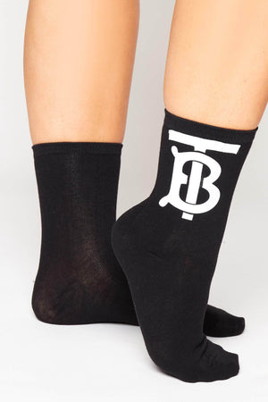 Black & White Monogram Socks