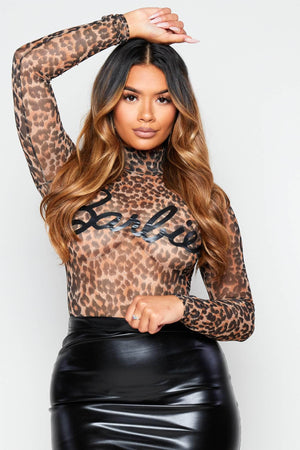 Sheer Leopard Barbie Bodysuit