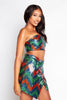Multicoloured Sequin Wrap Skirt & Bandeau Top Co-ord