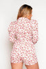 Pink Floral Printed Wrap Playsuit