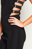 Black Bandage Cut Out Jumpsuit