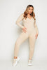 Nude Stone Cotton V Neck Jumpsuit