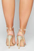 Gold Patent & Perspex Heels with Gem Droplets