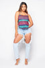 Stripe Backless Crop Cami Top