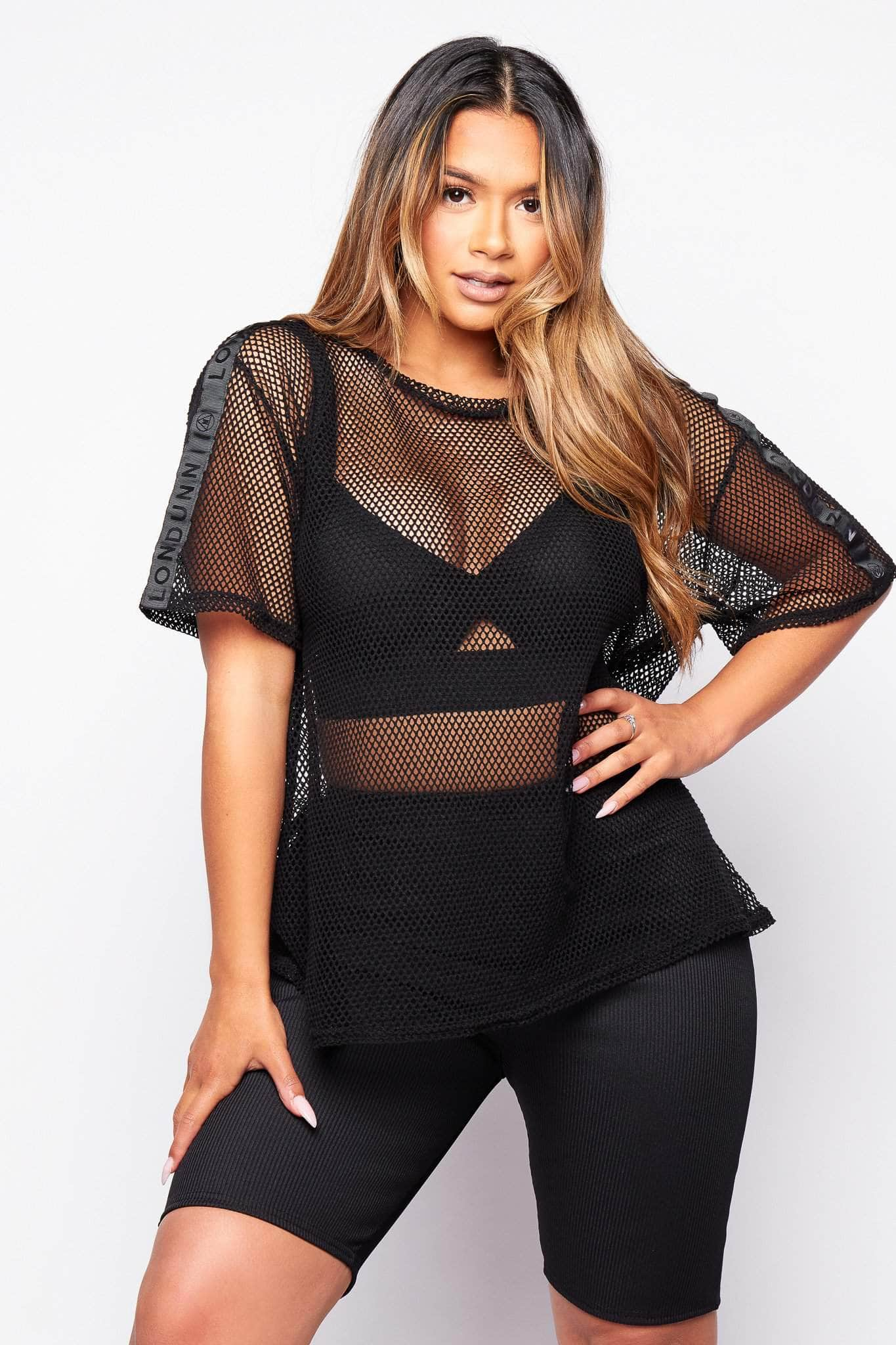 Black Fishnet Oversize T.shirt