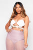 Mauve Sheer Mini Skirt with Attached Underwear