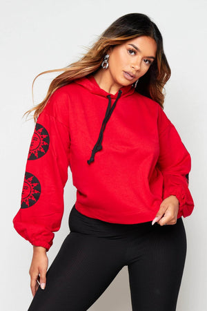 Red Hoodie with Zodiac Sign
