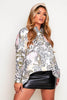 Blush Tiger Printed Satin Shirt