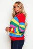 Multicolour Cable Knit Stripe Jumper
