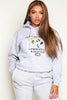 Power Puff Printed Grey Hoodie