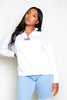 Plus+ White USA Half Zip Sweatshirt