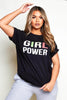 Black 'Girl Power' Printed Tee