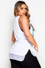 Reebok Face Print Long Tank Top in White