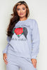 Grey Rock Chick Printed Lounge Sweatshirt