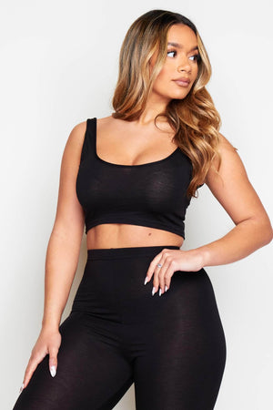 Black Scoop Neck Bralet